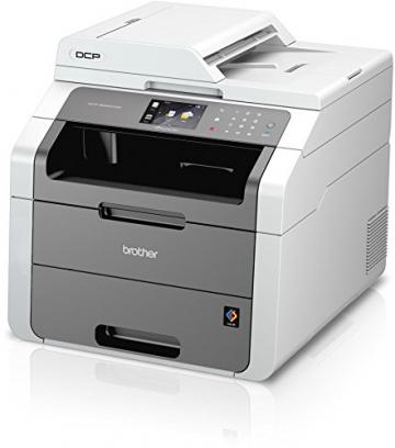 Brother DCP-9022CDW kompaktes 3-in-1 Multifunktionsgerät (Kopierer, Farbscanner) weiß/dunkelgrau - 3