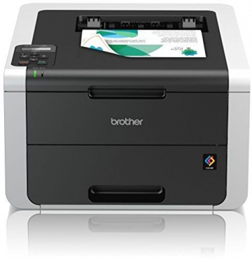 Brother HL-3152CDW High-Speed Duplex-Farbdrucker (LAN/WLAN) weiß/dunkelgrau - 1