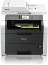 Brother MFC-9142CDN Kompaktes 4-in-1 Farblaser Multifunktionsgerät (Drucken, scannen, kopieren, faxen, 2.400x600 dpi, USB 2.0 Hi-Speed, LAN, Duplex) dunkelgrau - 1