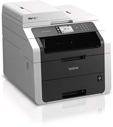Brother MFC-9142CDN Kompaktes 4-in-1 Farblaser Multifunktionsgerät (Drucken, scannen, kopieren, faxen, 2.400x600 dpi, USB 2.0 Hi-Speed, LAN, Duplex) dunkelgrau - 2