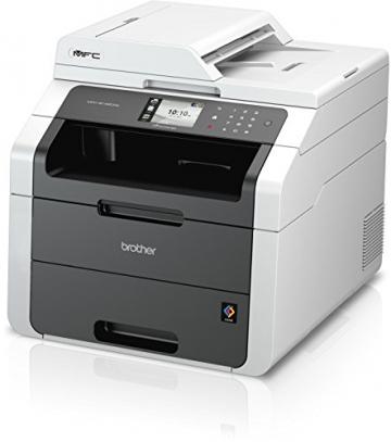 Brother MFC-9142CDN Kompaktes 4-in-1 Farblaser Multifunktionsgerät (Drucken, scannen, kopieren, faxen, 2.400x600 dpi, USB 2.0 Hi-Speed, LAN, Duplex) dunkelgrau - 3