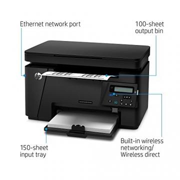 HP LaserJet Pro M125nw Mono MFP Laserdrucker (Scanner, Drucker, Kopierer, WLAN, Ethernet, USB 2.0) schwarz - 3