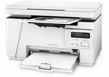 HP LaserJet Pro M26nw Schwarzweiß-Laserdrucker Multifunktionsgerät (Drucker, Scanner, Kopierer, WLAN, LAN, HP ePrint, Apple Airprint, USB, 600 x 600 dpi) weiß - 3