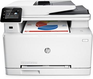 HP LaserJet Pro MFP M277dw Laser Multifunktionsdrucker (A4, Farblaserdrucker, Scanner, Kopierer, Fax, Duplex, Ethernet, USB, Wlan, 600 x 600) weiß - 1