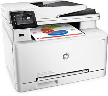HP LaserJet Pro MFP M277dw Laser Multifunktionsdrucker (A4, Farblaserdrucker, Scanner, Kopierer, Fax, Duplex, Ethernet, USB, Wlan, 600 x 600) weiß - 2